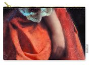Woman In Red 18th Century Gown Carry-all Pouch