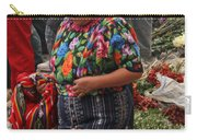 Woman In Traditional Guatemalan Dress Carry-all Pouch