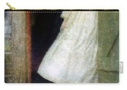 Woman In Vintage Victorian Era Dress In Doorway Carry-all Pouch