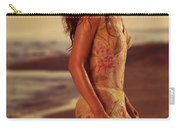 Woman In Wet Dress At The Beach Carry-all Pouch