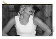 Woman In White  Bw Carry-all Pouch
