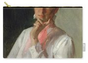 Woman In White Carry-all Pouch by William Merritt Chase