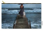 Woman On Dock In Storm Carry-all Pouch