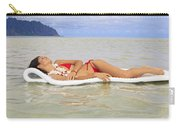Woman On Raft Carry-all Pouch