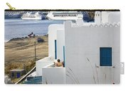Woman On The Terrace - Mykonos Carry-all Pouch