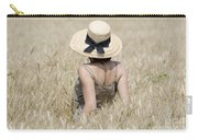 Woman On The Wheat Field Carry-all Pouch
