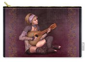 Woman Playing The Lyre Carry-all Pouch
