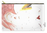 Woman Smile Watercolor Painting Carry-all Pouch