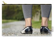Woman Standing On A Stone Road Carry-all Pouch