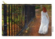 Woman Walking In Long White Gown Carry-all Pouch