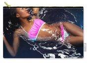 Woman Wearing Bikini Lying In Water Carry-all Pouch