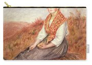 Woman With A Bundle Of Firewood Carry-all Pouch