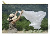 Woman With A White Sheet Carry-all Pouch
