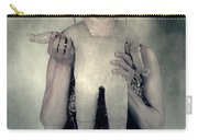 Woman With Doll Carry-all Pouch by Joana Kruse