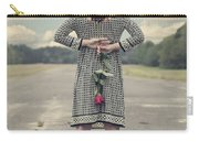 Woman With Red Rose Carry-all Pouch