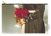 Woman With Roses Carry-all Pouch by Joana Kruse