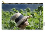 Woman With Straw Hat Carry-all Pouch