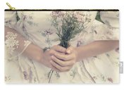 Woman With Wild Flowers Carry-all Pouch by Joana Kruse