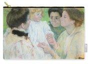 Women Admiring A Child Carry-all Pouch by Mary Stevenson Cassatt