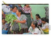 Women At The Chichicastenango Market Carry-all Pouch