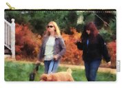 Women Walking A Dog Carry-all Pouch