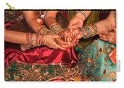 Women With Decorated Hands Holding Hands In A Hindu Religious Ceremony Carry-all Pouch