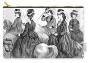 Womens Fashion, 1870 Carry-all Pouch