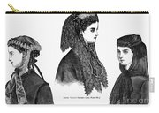 Womens Hats, 1868 Carry-all Pouch