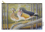 Wood Duck Pair At The Lake Carry-all Pouch