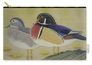 Wood Duck Pair Lakeside Carry-all Pouch