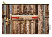 Wood Fence Door Carry-all Pouch