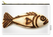 Wooden Fish Carry-all Pouch by Fabrizio Troiani