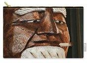 Wooden Head With Cigarette Carry-all Pouch