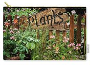 Wooden Plant Sign In Flowers Carry-all Pouch