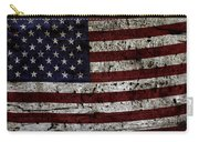 Wooden Textured Usa Flag2 Carry-all Pouch