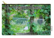 Wooden Trellis And Vines Carry-all Pouch