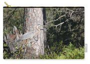 Woodland Great Blue Heron Carry-all Pouch