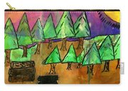 Woods Cut Logs And A Sunset Carry-all Pouch