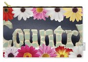 Word Art Country Daisy 2 Carry-all Pouch by Cynthia Amaral