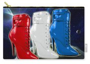 World Domination In Red White And Blue Boots Carry-all Pouch