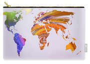 World Map Abstract Painted Carry-all Pouch