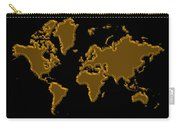 World Map Gold Carry-all Pouch