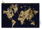 World Map Rock Carry-all Pouch