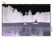 Worlds Smallest Chapel Church Negative Inverted Image Carry-all Pouch