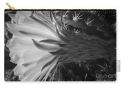 Woven Flower Bw Carry-all Pouch