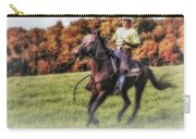 Wrangler And Horse Carry-all Pouch by Susan Candelario