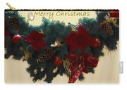 Wreath Garland Greeting Carry-all Pouch by DigiArt Diaries by Vicky B Fuller