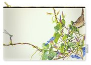 Wren And Damselfly Carry-all Pouch