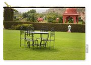 Wrought Metal Chairs Around A Table In A Lawn Carry-all Pouch