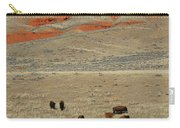 Wyoming Red Cliffs And Buffalo Carry-all Pouch